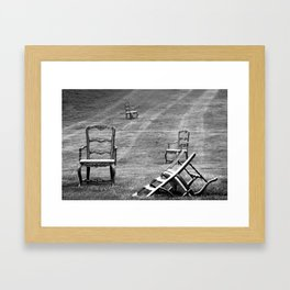 Dining Room Chairs Framed Art Print