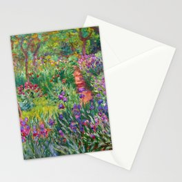 Claude Monet - The Iris Garden At Giverny Stationery Cards