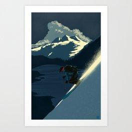 Revelstoke skiing Art Print