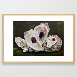 Grand Isle Oyster Reef Framed Art Print