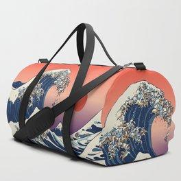 The Great Wave of English Bulldog Duffle Bag