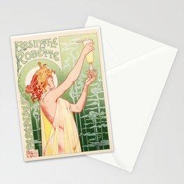 Absinthe Robette 1896 by Henri Privat Livemont Art Nouveau Vintage Poster 1896 Artwork for Prints Po Stationery Cards
