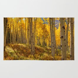 Autumn Aspen Forest Aspen Colorado Rug