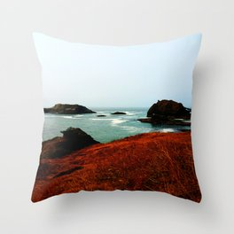 Red Thunder Rock Cove Throw Pillow