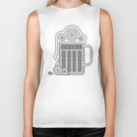 beer Biker Tanks featuring Beer by twincollective