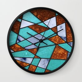 #477 Marble Shards & Copper Wall Clock
