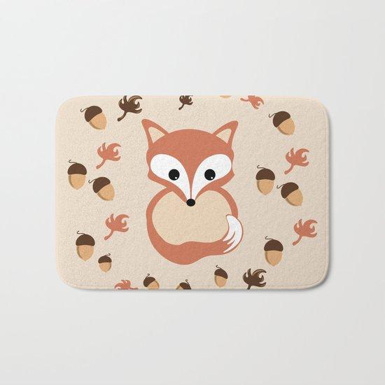 Fox in autumn Bath Mat