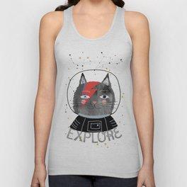 Bowie Cat Unisex Tank Top