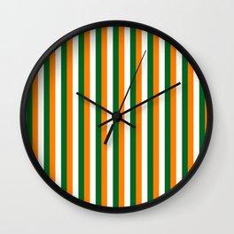 Team Colors 4... orange green white Wall Clock