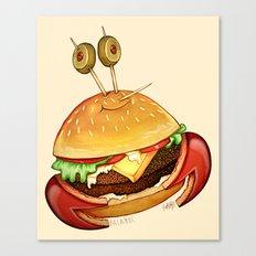 Krabby patty Canvas Print