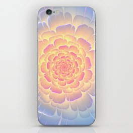 Romantic violet and yellow flower iPhone Skin