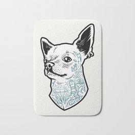 Tattooed Chihuahua Bath Mat