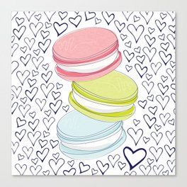 For the Love of Macarons Canvas Print