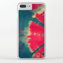 Red Half Moon Clear iPhone Case