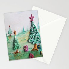 Tropical Christmas Whimsical Scenery  Stationery Cards