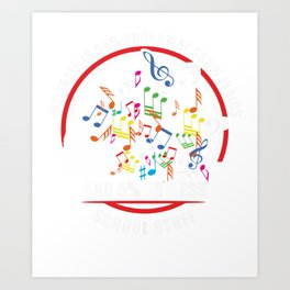 My brain is 95% Broadway show lyrics music teacher Art Print