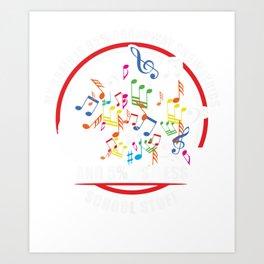 My brain is 95% Broadway show lyrics music teacher Art Print