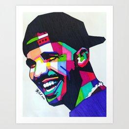 Drake(Cap) Art Print