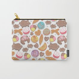 Mexican Sweet Bakery Frenzy // white background // pastel colors pan dulce Carry-All Pouch