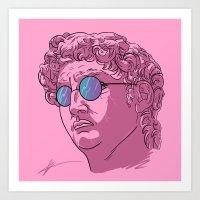 david olenick Art Prints featuring David by KODYMASON