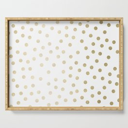 Stylish Gold Polka Dots Serving Tray