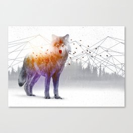 A Wilderness Within / Wolf Canvas Print