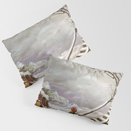 The Truth About Comets winter landscape surrealism painting by Dorothea Tanning Pillow Sham