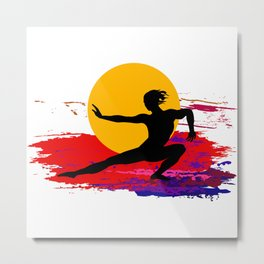 Martial art, karate, judo, aikido, self defence Metal Print