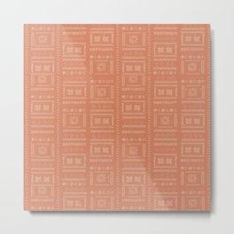 N110 - Bohemian Heritage Traditional Moroccan African Style Artwork. Metal Print