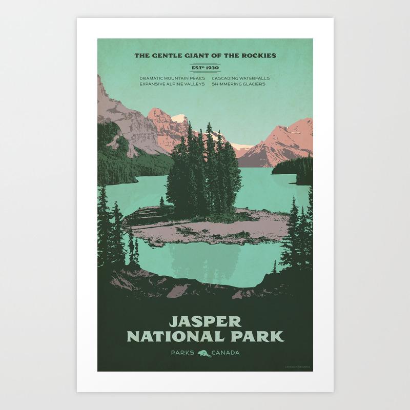 Jasper National Park Poster Art Print By Cameronstevens Society6