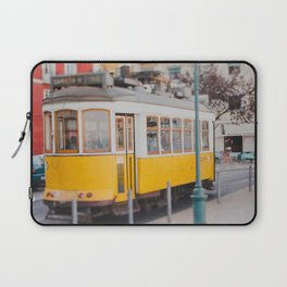 Yellow Tram in Lisbon Laptop Sleeve