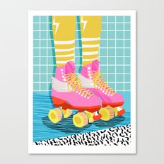 The Right Stuff - retro throwback 80s style rollerskates skating rink trendy 1980's Canvas Print