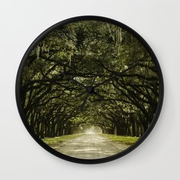 Spanish Moss Canopy Wall Clock