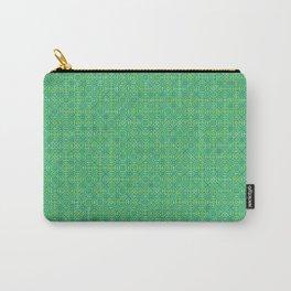 Random Octagonal Pattern Green Carry-All Pouch
