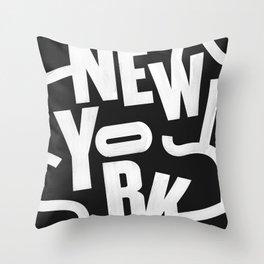 New York Routes Throw Pillow