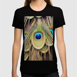 Peacock Feathers Plumage Pattern. T-shirt