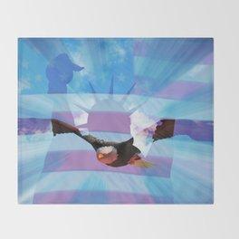 America - Freedom! Throw Blanket