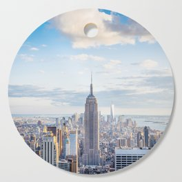New York city skyline with Empire State Building Cutting Board