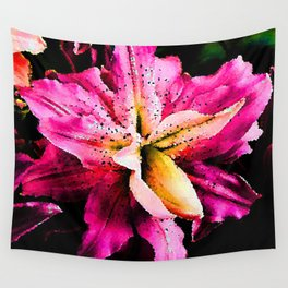 Pink Lily Wall Tapestry