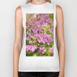 Phlox subulata pink flowering Biker Tank