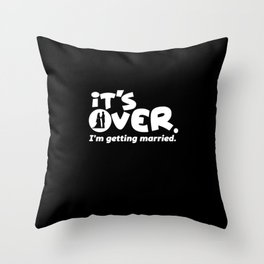 statg party slogan | stag night gift Throw Pillow