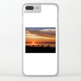 Cruising into the Sunset Clear iPhone Case