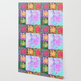 Watercolor Kiss Wallpaper