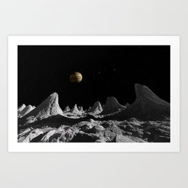 The Ice Spires of Callisto Art Print