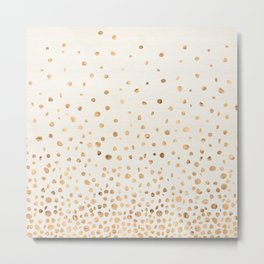 Ascending Dots (Ivory) Metal Print