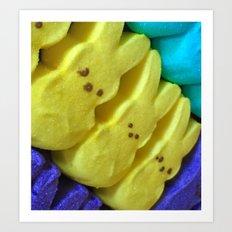 Yellow Bunnies Art Print