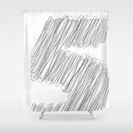 """ Cloud Collection "" - Minimal Number Five Print Shower Curtain"