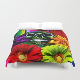 Day of the Dead Skull Duvet Cover