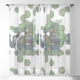 Face of Earth Sheer Curtain