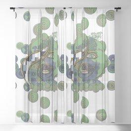Face of Earth Sheer Curtain